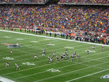 Brady Drops Back to Pass