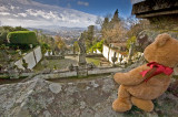 Looking  down to  the city  of Braga...