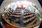 Der ÖVP-Klub bei der Rede von Bundeskanzler Wolfgang Schüssel