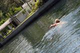 Kathy Enjoying the Springs