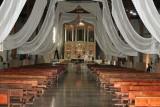 El Interior de la Iglesia es muy Amplio