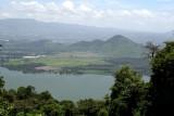 Vista del Lago de Amatitlan desde la Aldea Santa Elena Barillas