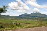 Vista Panoramica de la Desecada Laguna de Retana y el Volcan Suchitan