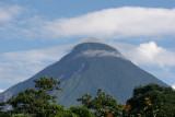 Vista del Volcan Santa Maria Desde el Poblado