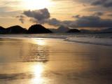 Lever de soleil sur la plage de Copacabana