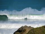 20 foot swell at The Gap, Piha