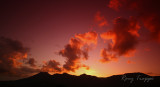 Fire clouds over the Moelwyn range