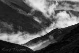 Low cloud rising above Dinas Mawddwy