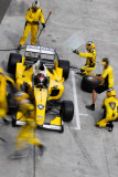 Team Malaysia at the pit stop, A1GP