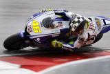 SEPANG, MALAYSIA - FEBRUARY 2009: MotoGP's world champion Valentino Rossi from Italy tests his Yamaha motorbike in the preseason