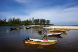 Boats at Kampung Balok fishing village