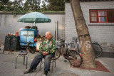 Elderly man enjoys the late afternoon