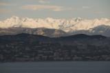 Plastered peaks across Cannes Bay