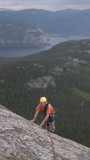 The top of Via Lara, Haegarfjell