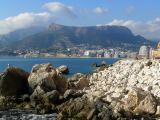 Olta and old Calpe from below the Penon
