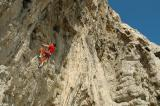 Garraf Cave 7b+ in sun