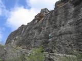 Patones major top-roping on Mur de Lamentations