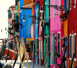 Burano island: Canals, Bridges and colorful Houses