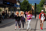 Boys and girls in the center of Uppsala, Sweden