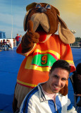 Great fun on board! Here, a mascot of the ship with Junior Bracciodiferro