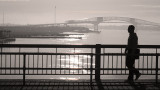Pedestrians on a Bridge #1