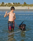 Spencer and Barney at the Beach