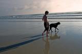 Boy and Dog and Shadows