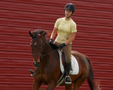 Red Barn and Rider