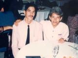 Con mami en el Banquete de Graduación