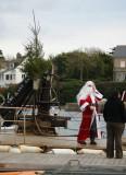 Le Père Noël à Port-Navalo, décembre 2010
