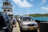 Our Rental on the Car Barge to St John