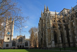 St Margaret's Church and the side of Westminster Abbey