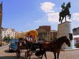 Horse drawn carriage in Arhus, Denmark