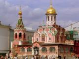 A faithful 1990's reconstruction of the Kazan Cathedral, Red Square, Moscow
