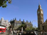 Big Ben, Portcullis House and the London Eye