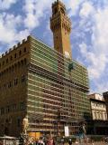 The Palazzo Vecchio is being repaired