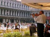 Performing in St Mark's Square, Venice
