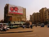 A typical Cairo street scene