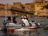 Taking the boat to Philae Temple