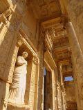 The statue of Arete who represents virtue