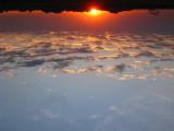 Upside-down sunrise