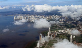 Panama City from the Clouds