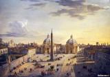 View of the  Piazza del Popolo, Rome, 1741
