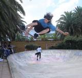 Skateboarding in Punta del Este, Uruguay