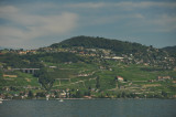The beginning of the lake shore that leads to the UNESCO protected are of Lavaux. Do you see the train that goes to Bern ?