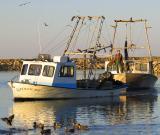 Towing  a Katrina-sunken boat