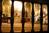 Altar Photographed Through Pew In Nuns' Chapel