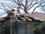Finally the Roofers  Begin at My Daughter's House-Jan.-19