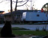 Sunset Over a FEMA trailer