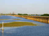 River Level Slowly Receding and Spillway Gets a Rest-May 11, 2008